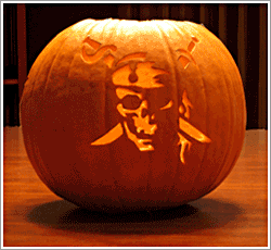 Jolly Roger pumpkin carving